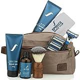 Spruce Shave Club 5X Imperial Shaving Kit (Travel Kit, Shaving Razor, Blades, Shaving Gel, Aftershave, Pre Shave Oil, Towel) (Citrus)
