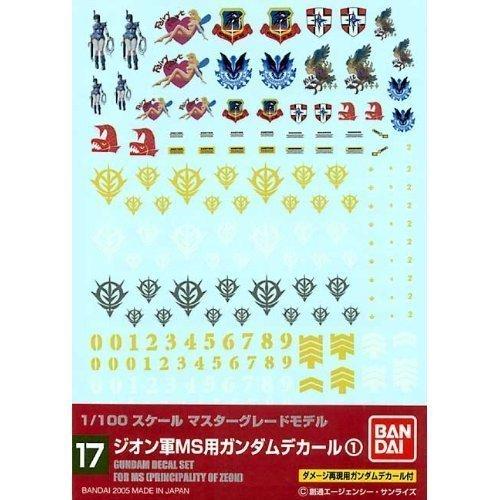 Bandai Model Kit 34135-51594Gundam Decal 17-MG Multi -
