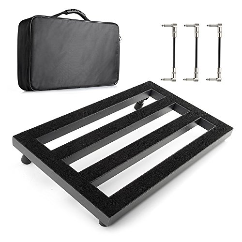Vangoa - Guitar Pedal Board Aluminum Alloy 3.3lb. Lightweight Pedalboard 19.8'' x 11.5'' with Carry Bag, Guitar Pedal Cable by Vangoa