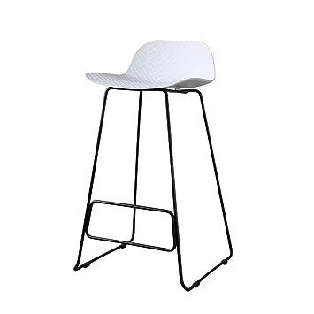 Furniture Cheap Price Solid Wood Bar Chair Creative Bar Chair Backrest Bar Chair Modern Simple Bar Stool High Stool Family High Chair Bar Furniture Superior Materials
