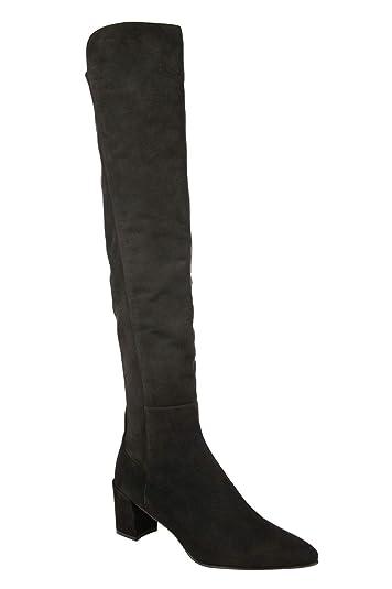 0b4fa8c91 Stuart Weitzman Women's Allwayhunk Dark Brown Cola Suede Over-The-Knee Boot  (US