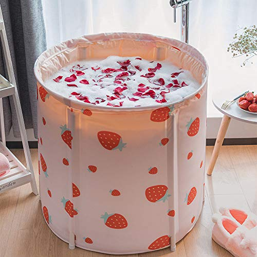 For Sale! Portable Bathtub, Foldable Soaking Bath Tub for Shower Stall, Thickening with Thermal Foam...