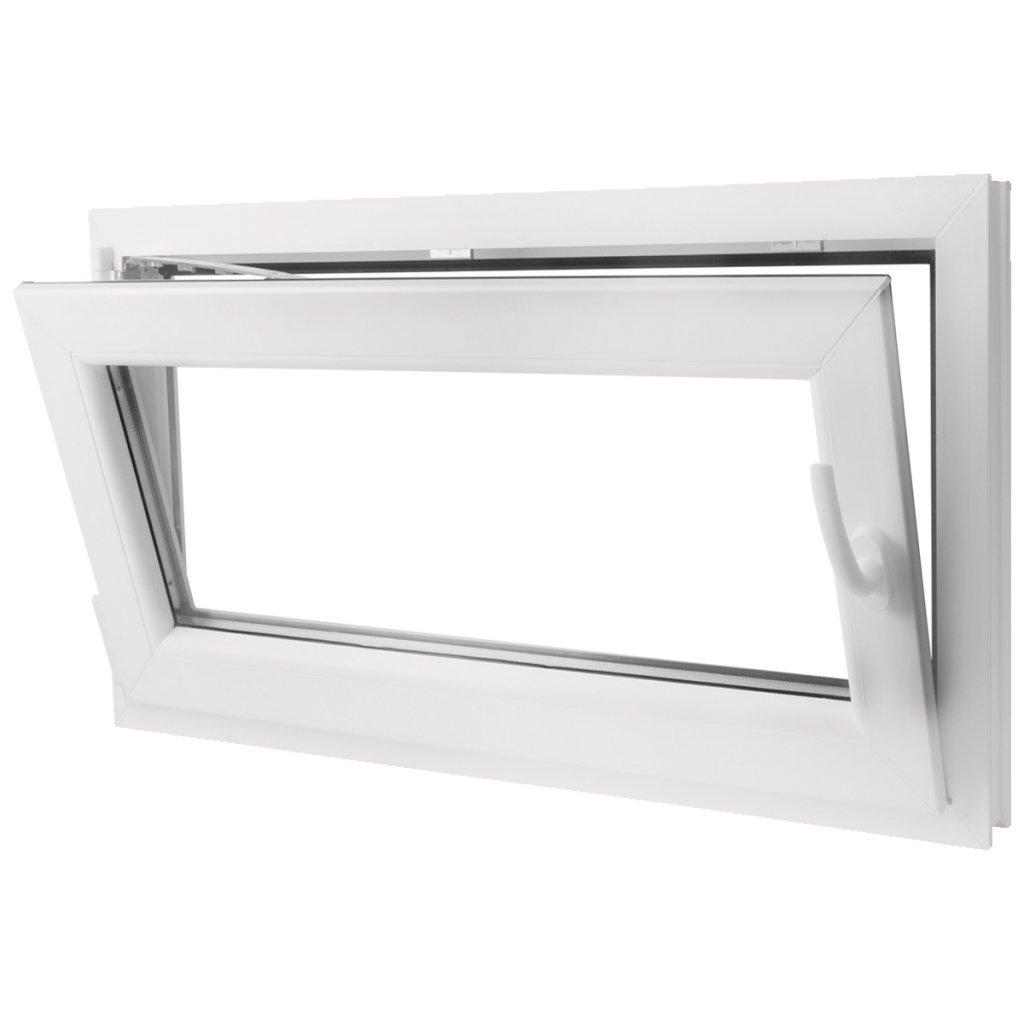 Festnight 3-in-1 PVC Fenster Drehkippfenster mit Zweifach Verglast Doppelverglasung-Fenster, Rechtsseitig Griff 1000x600mm