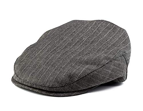 Born to Love Infant & Toddler Boys Pinstripe Driver Cap Baby Hat for Kids (XXL), Grey and White
