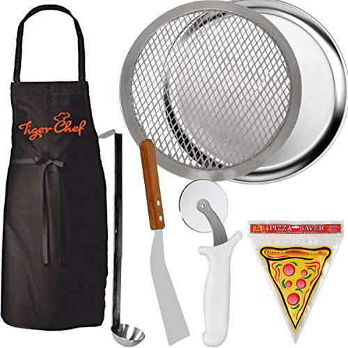 TigerChef TC-20491 Homemade Pizza Making Kit, 6-Piece Pizza Pro Set, Includes 16