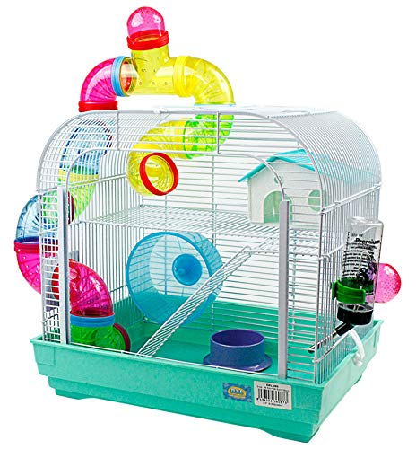 DZL Jaula para Hamster Medidas:29.5X29.5X38CM (Verde): Amazon.es ...