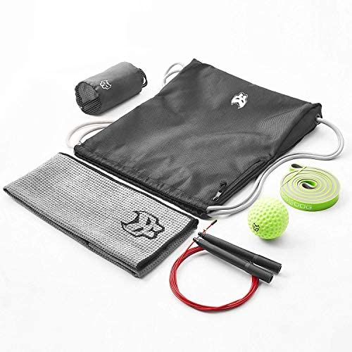 KONUNGR Workout Set for Home Fitness on Quarantine - Pull Up Band - Massage Ball - Sport Towel - Jump Rope - Stay at Home & Get Fit During Isolation 7