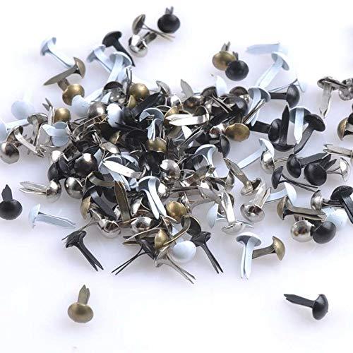 Garment Rivet - 300PCs Mixed Plated Round Brads Scrapbooking Embellishment Fastener Brads Metal Crafts for Shoes Decoration 6 Colors CP0639 - (Color: Antique Copper)