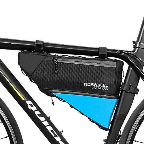 allnice Bike Frame Bag 3-4L Frame Pouch Waterproof Bike Storage Bag Mountain Road MTB Bicycle Triangle Bag Strap-on Bicycle Pouch by allnice (Image #1)