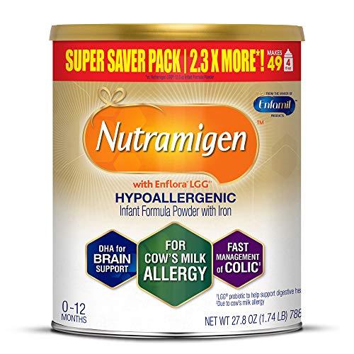 Enfamil Nutramigen Infant Formula with Enflora LGG - Hypoallergenic & Lactose-Free for Fast Colic Management - Powder Can, 27.8 oz
