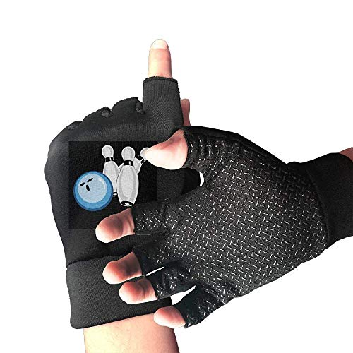 shower curtain liner Cycling Gloves Blue Bowling Ball Men's/Women's Mountain Bike Gloves Half Finger Anti-Slip Motorcycle Gloves