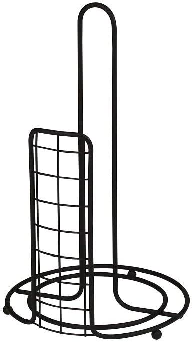 Spectrum Diversified Grid Paper Towel Holder for Storage and Organization of Kitchen Decor and Gadgets, Black, Banana