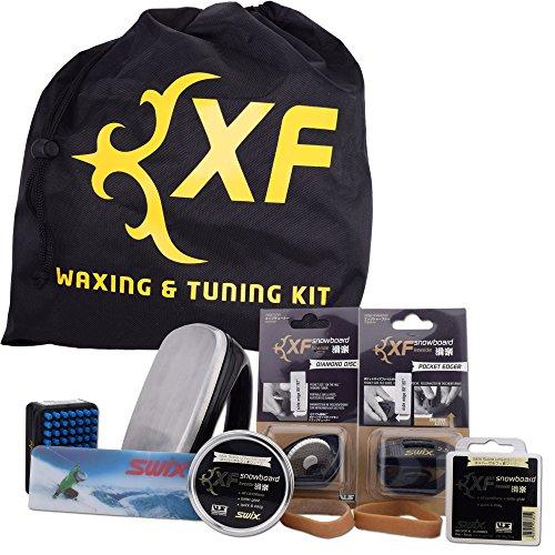 Swix Ski Waxing (Swix XF Ski Snowboard All Mountain Wax and Edge Tuning Kit)