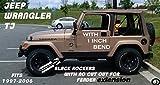 Fits Jeep Tj Diamond Plate Black Side Rocker Panels