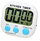 Cheap4uk Digital Kitchen Timer Large LCD display for Cooking Games Sports Teacher Autism Children Brush Teeth Countdown(White)