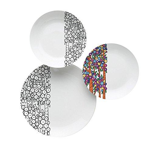 2 opinioni per Excelsa Charm Servizio da Tavola, Porcellana, Bianco/Multicolore, 18 Pezzi