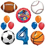 Best Ultimate Sports - The Ultimate Sports Theme 4th Birthday Party Supplies Review