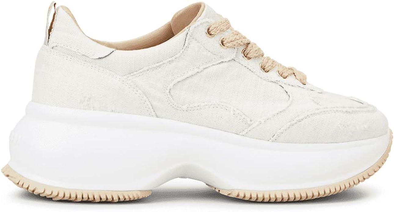 Hogan - Zapatillas de mujer Maxi I Active marfil de tela - HXW4350BP20 MVJB019 - Talla Marfil Size: 36 EU: Amazon.es: Zapatos y complementos