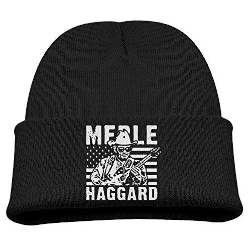 Child Unisex Knit Hat Cool Beanie Winter Merle Haggard Skull Cap KnittedToboggans - Skull River Road Cap