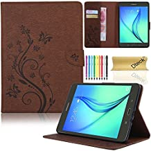 Galaxy Tab A 8.0 Case, SM-T350 Case, Dteck(TM) Slim Fit Protective Synthetic Leather Stand Case [Card Slot] Flip Wallet Pocket Cover with Magnetic Buckle for Samsung Galaxy Tab A 8.0(Brown)