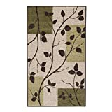 Dogwood Leaves Sage Accent Rug (2'6 x 3'10) For Sale