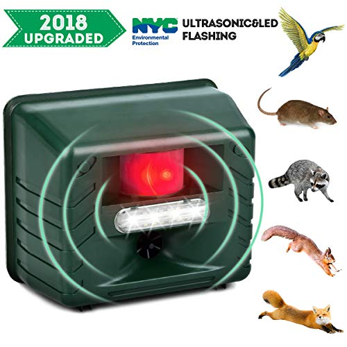 ZZC Pest Control Drives Away Animals with Remote Control and Flashlight ultrasonic Outdoor Insect Repellent, Animal pest Repellent pest Control and Motion Detector Rodents, Rats, mice, Deer