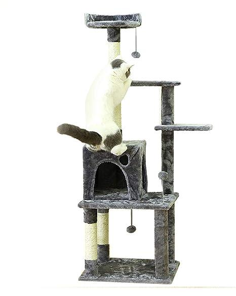 Arena para Gatos Grande Gato Trepador Delicado Y Delicado Pilares ...