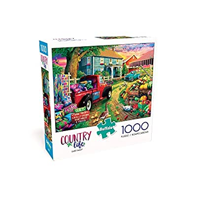 Buffalo Games - Country Life - Quilt Farm - 1000 Piece Jigsaw Puzzle: Toys & Games