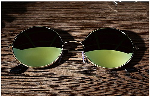 AMAZZANG-Men Women Retro Vintage Round Mirrored Sunglasses Eyewear Outdoor Sports Glasses - Sunglasses Mosley