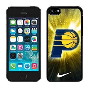 New Custom Design Cover Case For iPhone 5C Generation Indiana Pacers 3 Black Phone Case