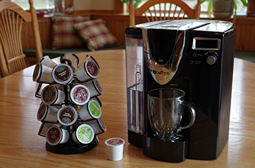 K-Cup Storage Deluxe Steel Spinning Carousel, 24 ct. Keurig, Black by Java Concepts® (Image #4)