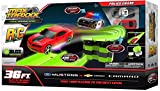 Max Traxxx R/C Tracer Racers High Speed Remote Control 'Police Chase' Officially Licensed Ford Mustang vs Chevy Camaro Track Set
