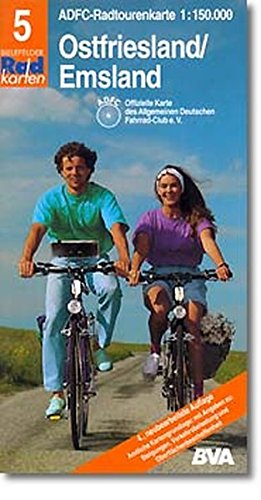 Radtourenkarten 1:150000 (ADFC): ADFC Radtourenkarten, Ostfriesland, Emsland