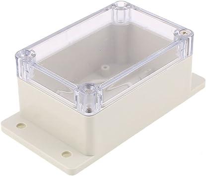 Aexit 100 x 68 x 50 mm Cubierta transparente Caja sellada Caja de conexiones a (model: Q9097VIX-1185RV) prueba de agua: Amazon.es: Bricolaje y herramientas