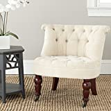 Safavieh Mercer Collection Carlin Tufted Chair, Natural Cream