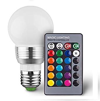 9 W E27 regulable LED cambia de color bombilla con mando a distancia 16