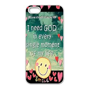 ZK-SXH - Smiley Brand New Durable Cover Case Cover for iPhone 5,5G,5S, Smiley Cheap Cover Case