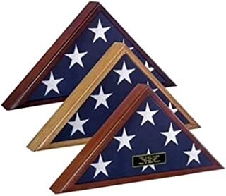 product image for 4 x 6 Flag Display Case, 4 ft x 6 ft Flag Display case, Cherry Wood Flag Display case for 4x6 Flag