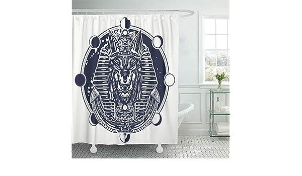 Teyyn-son-Shower curtain Cortina de Ducha Decorativa Anubis y ...