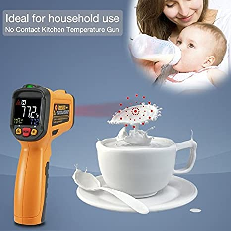 Amazon.com: Exeblue Infrared IR Thermometer, Digital Laser Thermometer LCD  Display  58°F~1022°F: Industrial U0026 Scientific