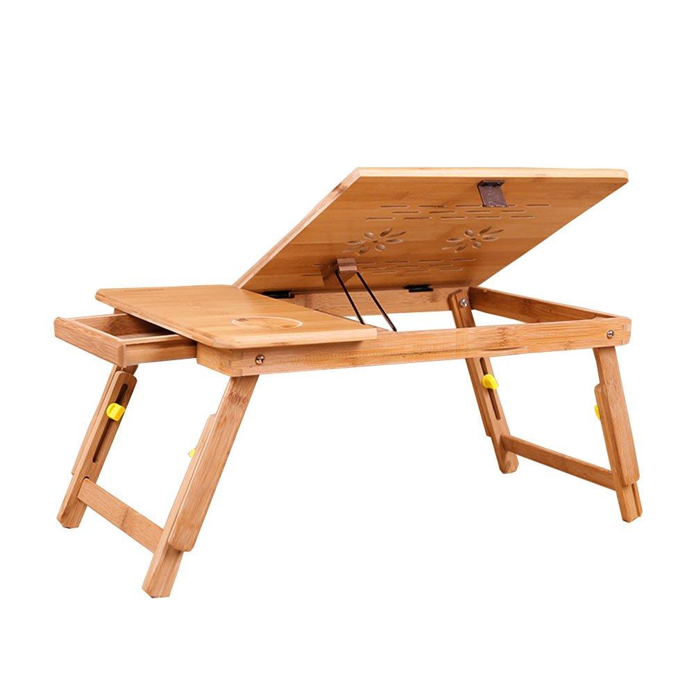 YNN ラップデスクフォールディングテーブルラップトップ調節可能なポータブルPCスタンドコンピュータラップトップテーブル引き出しとマウスプラットフォームアンチスリップバー (サイズ さいず : 75*35cm) B07DS8JTLH 75*35cm 75*35cm