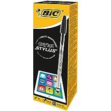 BIC 902124 - Bolígrafo (Negro, Negro, Transparente), paquete de 12 unidades