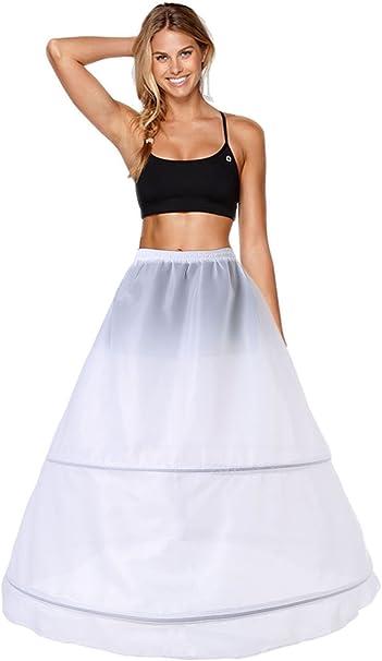 Enagua 2 Aros Enaguas Enteras Crinolina para Mujer Faldas Vestidos ...