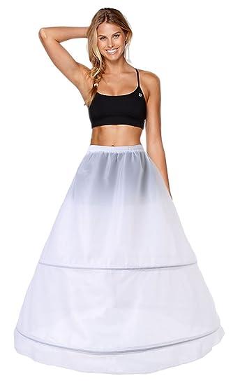 Enagua 2 Aros Enaguas Enteras Crinolina para Mujer Faldas Vestidos para Mujer Underskirt Cancan Enagua cancán