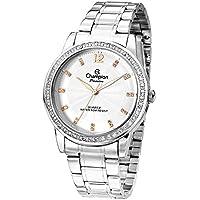 Relógio Champion Prata Cravejado Feminino Cn29150q - Cor(prata) Tamanho(unico)