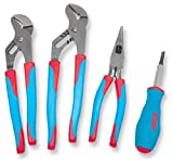 Channellock CBS-2 Code Blue 3 Piece 9-1/2-Inch 10-Inch Tongue and Groove and 8-1/2-Inch Needle Nose Plier Set
