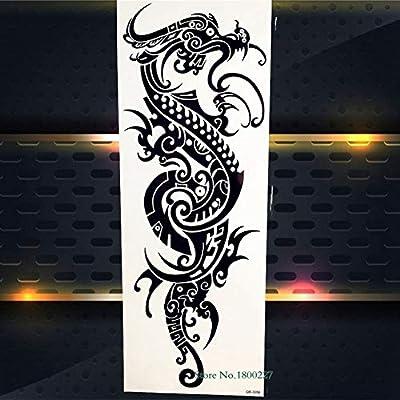 Tatuaje brazo completo cuerpo arte tribal apliques guerrero tótem ...