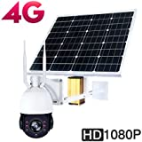 3G 4G Solar WIFI PTZ Outdoor IP Dome Camera Photovoltaic Systems 30000 mAh 60W 2.0MP 1080p 32G TF card 5X Optical Zoom Focus 2.7-13.5mm Night Vision Motion Detection 2 Way Audio Wireless Camera
