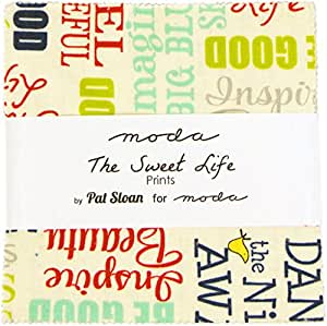 """The Sweet Life Moda Charm Pack By Pat Sloan; 42 - 5"""" Quilt Squares"""