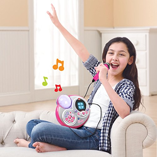 VTech Kidi Super Star Karaoke System with Mic Stand Amazon Exclusive by VTech (Image #5)